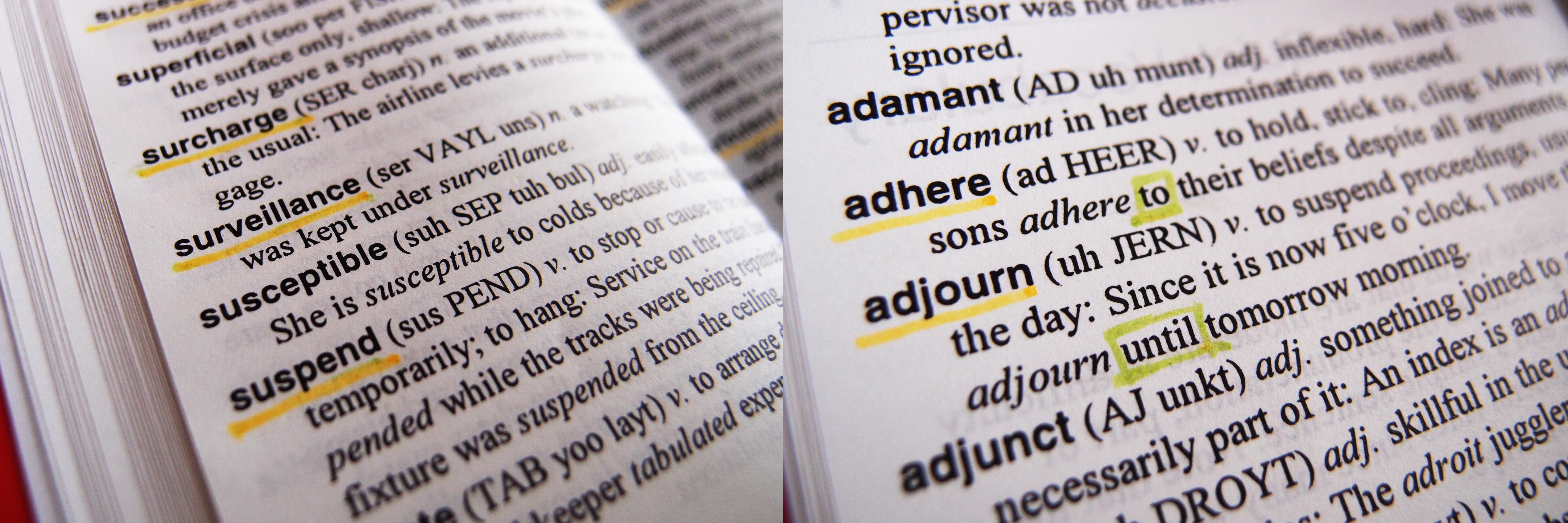 辞書 を 引く 英語